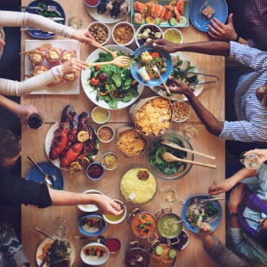 53727618 - food buffet catering dining eating party sharing concept