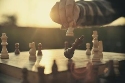 34238213 - man playing chess